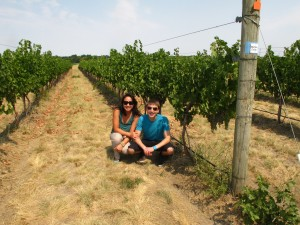 Chris and me in Amavi's estate vineyards