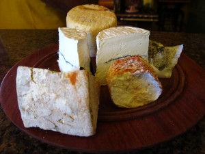 The generous spread of cheeses we tried at Monteillet